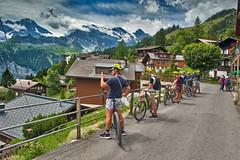 Murren , Canton of Bern Switzerland. Suisse summer time.No. 492. (Izakigur) Tags: izakigur flickr switzerland bern 2017 bicycle topf500 500faves