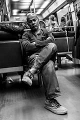 DSCF9087 (::Lens a Lot::) Tags: nikon nikkor 28mm f2 1976 | 7 blades aperture f paris 2017 black white streetphotography street photography bw portrait candid metro subway gate station wide open bokeh depth field fixed length vitage prime manual classic japanese primme lens noir et blanc monochrome intérieur personnes profondeur de champ route