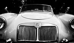 MG Roadster (Dalliance with Light (Andy Farmer)) Tags: car mg roadster classiccar bw automobile