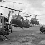VIETNAM WAR 1967 - U.S. Helicopters Taking off thumbnail