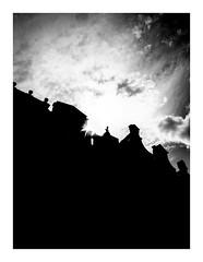 urbanwaves (seba0815) Tags: ricohgrdiv ricohgriv ricoh grd grdiv sky sun sunlight clouds urbanwaves urban city gdansk poland polska contrast silhouette building architecture monochrome bw black white bianco nero blanc noir schwarzweis czarnobiale streetphotography street inspiredeye lr preset seba0815