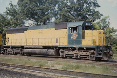 C&NW SD45 #901 north of Chicago on 6-26-76 (LE_Irvin) Tags: cnw sd45