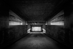 Tunnel (shutterclick3x) Tags: parking garage blackandwhite bw moody frankloose