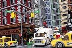 Spidey - Cover (Klikstyle) Tags: lego spiderman diorama newyorkcity marvel peterparker blocks ironman vignette