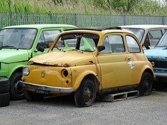 1971 Fiat 500 L (Alessio3373) Tags: abandoned cars abandonedcars abandonment autoabbandonate scrap scrapped scrappedcars rust rusty rusted corroded corrosion ruggine rustycars unused unloved neglected forgotten forgottencars fiat fiat500 fiat500l targhenere blackplates