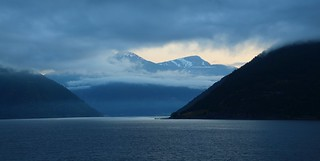 Dawn in Sognefjord.