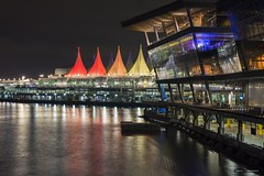 Looking For A Place To Happen (Clayton Perry Photoworks) Tags: vancouver bc canada summer night lights explorebc explorecanada skyline vancouverconventioncentre building canadaplace