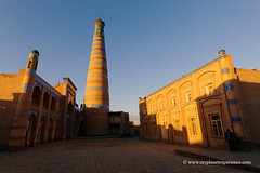 Uzbekistan (My Planet Experience) Tags: khiva xiva itchankala madrasah minaret islam khodja unesco worldheritagesites sunrise muslim architecture silk road route central asia oʻzbekiston узбекистан uz uzbekistan ouzbékistan myplanetexperience wwwmyplanetexperiencecom