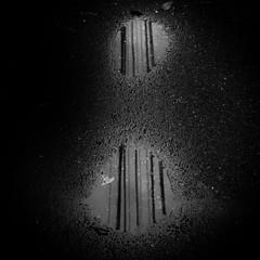 puddle (s_inagaki) Tags: puddle tokyo japan snap street reflection monochrome blackandwhite bw