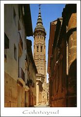 postcard - from JordiMTREUS65, Spain 1 (Jassy-50) Tags: postcard postcrossing unescoworldheritagesite unescoworldheritage unesco worldheritagesite worldheritage whs spain calatayud zaragoza tower mudejar aragon
