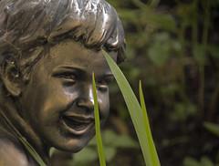 Little Boy ..  Petit  Garçon (Bob (sideshow015)) Tags: boy statue garcon nikon 7100 sigma garden jardin sculpture quebec