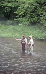 Kettle Creek at Route 144 Bridge (rentavet) Tags: minoltamaxxum5000 analog konicacenturia400asa kettlecreekpottercounty exp2006 troutfishing pawilds june2017 rokinar70200mm