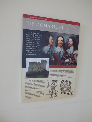 Aston Hall - Orange Chamber Dressing Room - sign - King Charles I