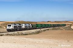 Samper de Calanda (ɢ. ʙᴇʀᴇɴɢᴜᴇʀ [ ō-]) Tags: 3333 renfe mercancías samper andorra carbón carbonero railway railroad ffcc central térmica desierto 333334 333395