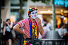 (graveur8x) Tags: clown happy pause man candid street portrait streetphotography eyecontact look colours colors cigarette smoking eyes hat bokeh people outdoor outside dof frankfurt germany deutschland break show notscary makeup canon canoneos6d canonef135mmf2lusm 135mm city urban stadt strase mann hessen zeil shoppingstreet