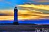Perch Rock Lighthouse. (DaveMo2017) Tags: sunset wirral beach lighthouse sea sand landscape cloud dusk sun england merseyside canon 700d eos kitlens 1855mm