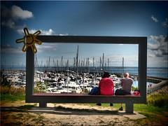 Baltic Sea framed (Ostseetroll) Tags: deu deutschland geo:lat=5413405058 geo:lon=1094327991 geotagged grömitz ostseeküste schleswigholstein ostsee balticsea hafen port rahmen frame yachthafen