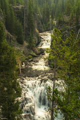Kepler Cascades (59roadking - Jim Johnston) Tags: ifttt 500px river waterfall wyoming ravine yellowstone national park gorge cascades