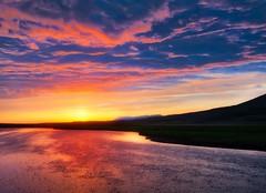 Iceland Pinky Lake (Stuck in Customs) Tags: treyratcliff trey ratcliff iceland plotagraph stuckincustoms stuckincustomscom hdr hdrphotography hdrtutorial hdrphoto lake clouds sunset pink blue water animate gif jpeg mp4 loop landscape