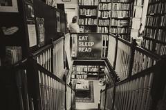 Eat Sleep Read Local (dorameulman) Tags: theblueridgeparkway bookstore books littleswitzerland monochrome blackandwhite sepia indoor dorameulman haiku canon7dmark11 canon