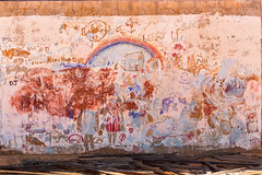 Aborigine children's art (Kevin Scattini) Tags: ghost town ghosttown outback westernaustralia aborigine abandonedschool stolengeneration