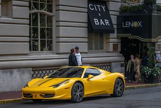 Ferrari 458 Spider outside The Lenox Hotel (Boston, MA)