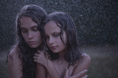 summer rain (visual_sigh) Tags: rain summerrain drops sisters summer bareskin youth melancholia teenagers wet love myworld girls dreamy mystery peopleandnature beauty russianbeauty family