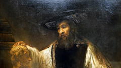 Rembrandt, Aristotle with a Bust of Homer (detail), 1653