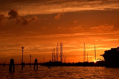 Magical Places and Things -Venice (3) (The Spirit of the World) Tags: venice italy sun light sunset night sky clouds europe marina boats masts water lagoon