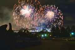 Light up the sky (beyondhue) Tags: the casino du lacleamy sound light fireworks beyondhue quebec gatineau ottawa canada alexandra bridge parliament peace tower jacques cartier parc mosaicanada