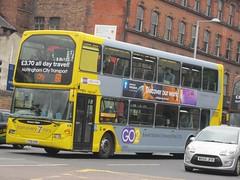 NCT 911 YT61GPE Mansfield Rd, Nottingham on 68 (1280x960) (dearingbuspix) Tags: nottinghamcitytransport 911 go2 6869 6869yellowline yellowline yellowline6869 yt61gpe