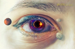 total eclipse of my eye (olgavareli) Tags: olga vareli surreal eye planet space eclipse sun moon manipulation trolled rock dream face