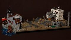 Apoc Outpost Collab (main) (Jan, The Creator) Tags: lego postapoc apoc harbour apocalyptic slums futuristic