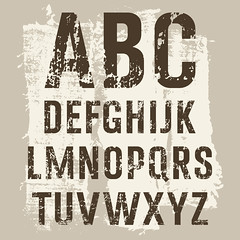 Grunge Letters vector set (ynottri) Tags: grunge alphabet vector stain grungy font element textile letter paint typography spray graffiti set type design texture text abc urban dirty symbol letterpress halftone
