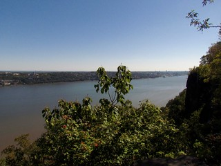 Hudson River from atop the Palisades
