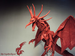 Ancient Dragon(Alduin ver.) (Rydos) Tags: paper origami art hanji koreanpaper korean paperfold fold folding paperfolding designed design model papermodel korea origamilst magenta kamiyasatoshi ancientdragon kamiya satoshi ancient dragon the world eater theworldeater alduin ver