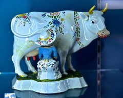 Don't laugh…. (violetchicken977) Tags: smileonsaturday bluetiful hsos milkmaid delft majolica fredelwell cowshed
