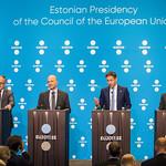 Benoît Cœuré, Pierre Moscovici, Jeroen Dijsselbloem and Klaus Regling thumbnail