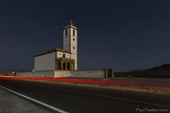 1907 (Explore 2/09/2017) (Paco Fuentes Vicario) Tags: carretera way camino noche night salina fabriquilla cabodegata church iglesia almería nocturno largaexposición estela summer campanario costa luz light