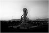 Tehuantepec, 2017 (Exit Imago) Tags: mexican mexico northamerican oaxaca tehuana tehuantepec zapotec bw blackandwhite metal monument statue ~ethnicity