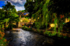 The Riverbank (Kev Walker ¦ Trying to Catch Up!) Tags: architecture canon1855mm canon700d digitalart hdr hebdenbridge northwest westyorkshire river picturesque clouds calder