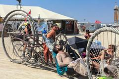 Mutant Vehicle, Burning Man 2017 (Chicago_Tim) Tags: burningman festival brc 2017 man nevada blackrockcity burning burningman2017 2017burningman playa art car mutant vehicle artcar mutantvehicle giant wheels