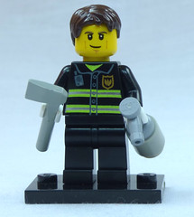 Brick Yourself Custom Lego Figure Determined Firefighter