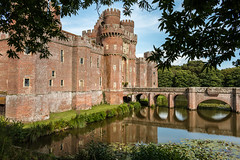 Herstmonceux Castle (Keith in Exeter) Tags: herstmonceux castle brick moat battlement fortress architecture sussex landscape outdoor trees reflection water