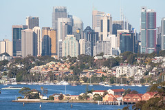 Sydney Harbour and City from the Gladesville Bridge