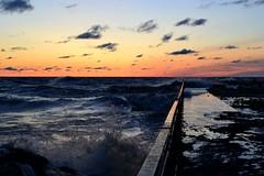 Lake Michigan Sunrise (marymorano) Tags: lakemichigan waves nationalgeographicwannabes water storm stormclouds wisconsinnature portwashingtonwisconsin wisconsinthunderstorms roughwaters hightide