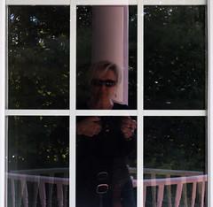 Such a pane. (Nance Fleming) Tags: window reflection pane windowpane selfportrait human cottagecountry