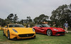 F12 and SP275 RW (Chase Thesing) Tags: ferrari f12 canon car week sl1 rare exotic fast red yellow carmel combo monterey