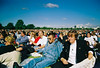 Crowd in Hyde Park for Lady Diana's funeral September 1997 (lomokev) Tags: london hydepark 1997 history funeral diana canoneos50e canon eos 50e denim 90s nineties dianaprincessofwales ladydiana crowd