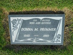 Gravestone - Donna Mae McPherson